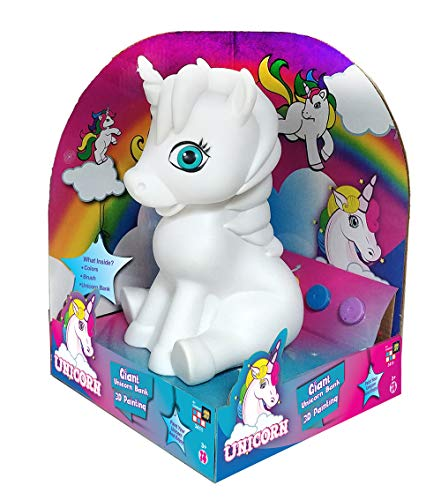 (AMAV Unicorn Bank- DIY Paint Your Own Unicorn & Choose from Five Arts & Crafts Activity for Boys & Girls Ultimate Piggy Bank)