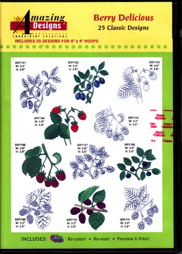 Amazing Designs Berry Delicious Machine Embroidery Designs (Stuff Embroidery Designs)