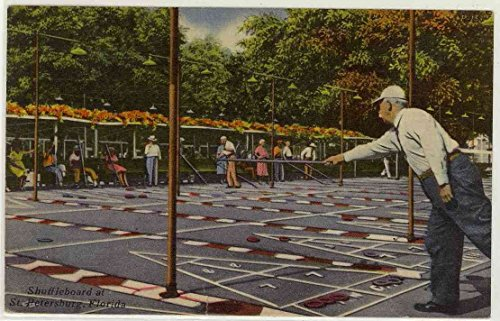 (Shuffleboard - Outdoor Pastime - St. Petersburg Florida (Vintage Linen Postcard) #82159)