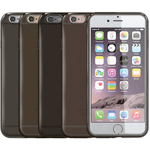 Orzly® - SMOKE GEL CASE for iPHONE 6 PLUS (Large / 5.5 inch) - Funda en NEGRO Semi Transparente - Protective Flexible Silicon Gel Phone Case - Diseñado por Orzly® exclusivamente para APPLE IPHONE 6 PL Smoke Gel - 5.5 -NEGRO