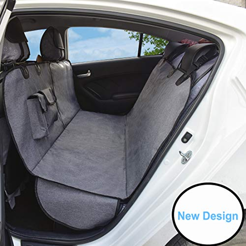 AMOFY Dog Car Seat Covers, Durable Ripstop, Reinforced Stitching,...