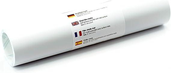 Lámina de tatuaje de pared mate 21 cm x 3 m - elección de colores, Color:Blanco: Amazon.es: Hogar