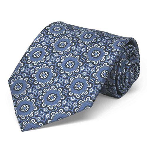 TieMart French Floral Pattern Necktie product image