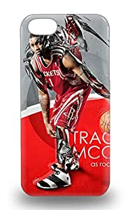 Scratch Free Phone Case For Iphone 5/5s Retail Packaging NBA Houston Rockets Tracy McGrady #1 3D PC Soft Case