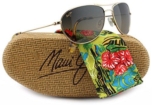Maui Jim MJ-245-16 Baby Beach Sunglasses Gold w/ HCL Bronze HS245-16 57mm - Jim Baby Maui