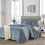 Stone Cottage 225167 Micro Mink Micro-Mink Quilt Set, Wedgewood Blue, King