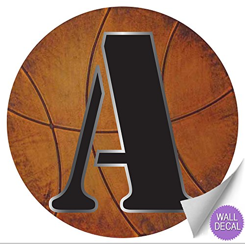 wall letters a basketball letter stickers alphabet initial vinyl sticker kid decals children room