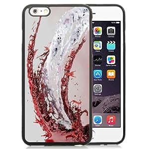 NEW Unique Custom Designed iPhone 6 Plus 5.5 Inch Phone Case With White Red Liquid Splash_Black Phone Case wangjiang maoyi by lolosakes