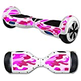 MightySkins Protective Vinyl Skin Decal for Hover Board Self Balancing Scooter mini 2 wheel x1 razor wrap cover sticker Pink Camo