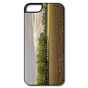 IPhone 5 Covers, Somewhere Northern Italy Case For IPhone 5 5S - White/black Hard Plastic