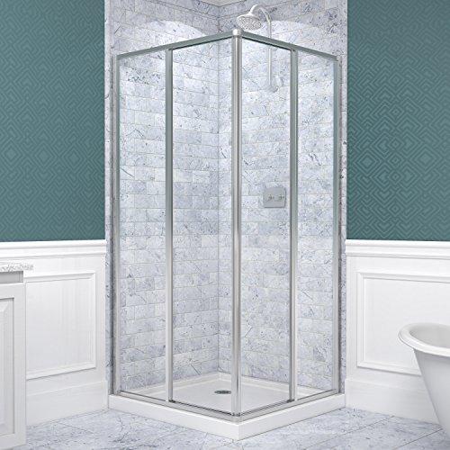 DreamLine Cornerview 34 1/2 in. D x 34 1/2 in. W, Framed Sliding Shower Enclosure, 5/32'' Glass, Chrome Finish by DreamLine