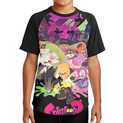 Price comparison product image Splat-oon Hero Boys&Girls Youth Tshirt Fashion 3D T-Shirt Short Sleeve Raglan Baseball Tee Black