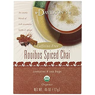 Davidson's Tea Rooibos Spiced Chai, 8-Count Tea Bags (Pack of 12)