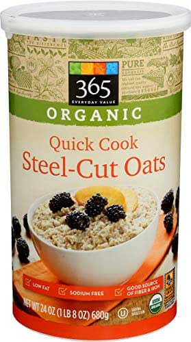 Oatmeal: 365 Everyday Value Organic Quick Cook Steel Cut Oats