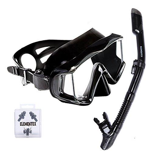 ELEMENTEX Dry Snorkel Set Includes Scuba Mask n Top Valve (Best Academy For Entry Test Preparation)
