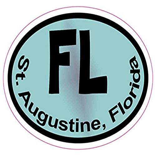 Ross Stores Colorful Oval FL St. Augustine - Sticker Graphic - Auto, Wall, Laptop, Cell, Truck Sticker for Windows, Cars, ()