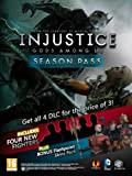 Xbox LIVE 1200 Microsoft Points for Injustice: Gods Among Us Season Pass [Online Game Code] image