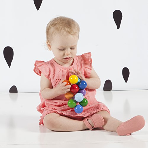 517sgL50QgL - Manhattan Toy Classic Baby Beads Wood Rattle, Teether, and Clutching Toy