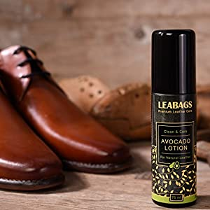 LEABAGS AVOCADO PREMIUM LOTION Non Toxic Natural Leather Care Cleaner - 75 ml