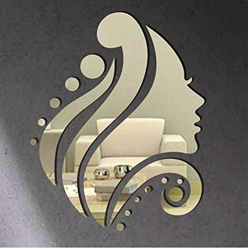 Beauty 3D Mirror Removable Vinyl Art Wall Sticker Living Room Home Decor New MiYan AHGRD014300