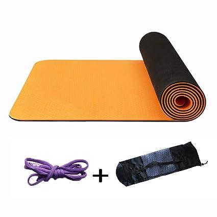 TPE Yoga Mat Antideslizante Fitness Tapetes Ideal para ...