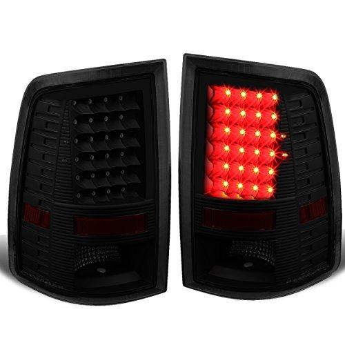 Dodge Ram 1500/2500/3500 Pair of LED Tail Brake Lights (Black Housing Smoked