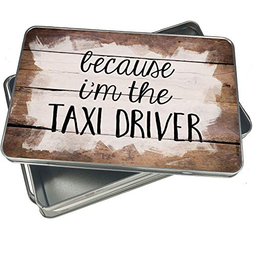 Cookie Taxi Jar - NEONBLOND Cookie Box Because I'm The Taxi Driver Funny Saying Christmas Metal Container