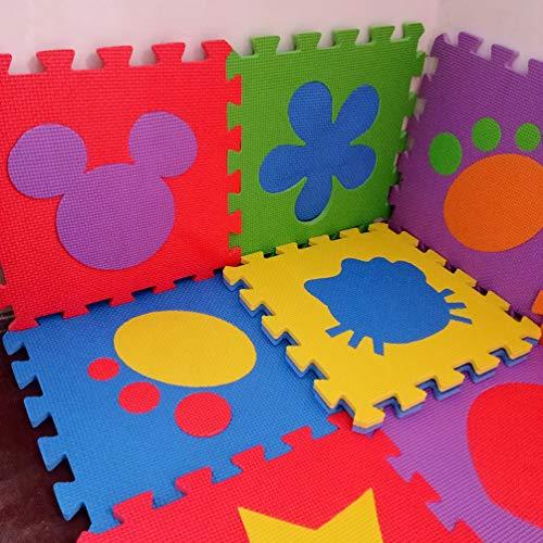 - Jim Hugh 12PCS Pack Foam Puzzle Mats EVA Flooring Mat Star Flower Animal Figures Baby Floor Mat Foam Baby Play Mat Mix Pack