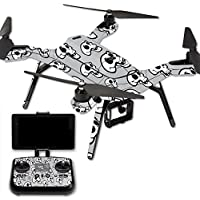 MightySkins Protective Vinyl Skin Decal for 3DR Solo Drone Quadcopter wrap cover sticker skins Laughing Skulls