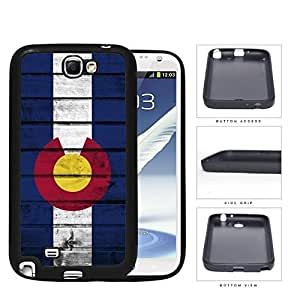 Colorado State Flag On Wood Hard Silicone PC Cell Phone Case Samsung Galaxy Note 2 II N7100