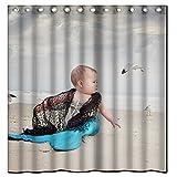 "Generic New Bathroom Decoration Waterproof Microfiber Fabric Mermaid Resources Shower Curtain 60""(W) x 72""(H) Home Bathroom Fashions Bath Curtain"