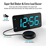 Extra Loud Alarm Clock with Bed Shaker, Vibrating