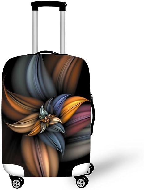 Gris, S CAIWEI Couverture de Bagages Fleurs 18-22 Cover Garde Votre Valise de Voyage Propre et prot/ège