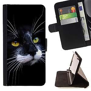 Momo Phone Case / Flip Funda de Cuero Case Cover - Negro Gato Blanco Casa Wirehair americano; - Samsung Galaxy S3 III I9300