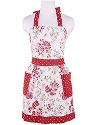 outline apron Red vintage