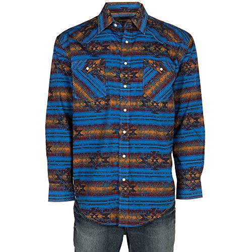 (Panhandle Men's Wasatch Aztec Long Sleeve Western Shirt - R0s8416 (Large) )