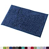 how to build a walk in shower Mayshine Bath mats for Bathroom Rugs Soft, Absorbent, Shaggy Microfiber,Machine-Washable, Perfect for Door Mat (20X32 inch Dark Blue)