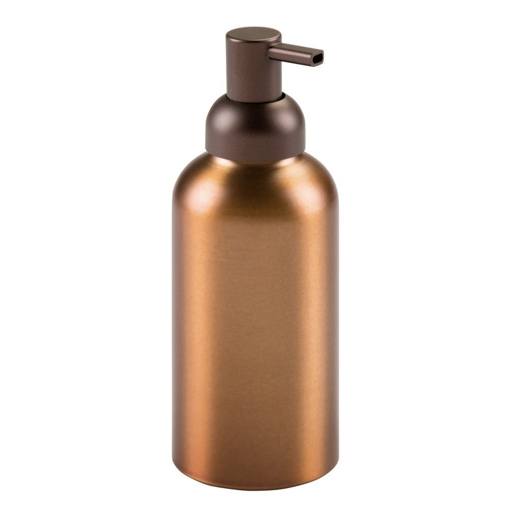 InterDesign Metro Rust Proof Aluminum Soap Dispenser Pump for Kitchen, Bathroom Vanities, 14 oz. - Bronze Inc 50611