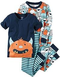 Baby Boys' 4 Piece Cotton Sleepwear