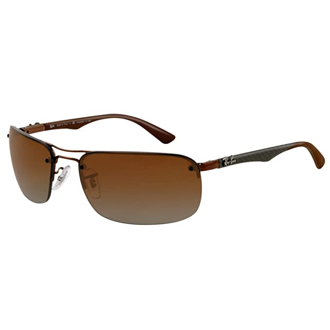 cb49a9cd3a8 Ray-Ban RB 8310 014-T5 63 Men s Tech Carbon Fibre Brown Metal Frame Polarized  Polar Brown Lens Sunglass  Amazon.ca  Clothing   Accessories