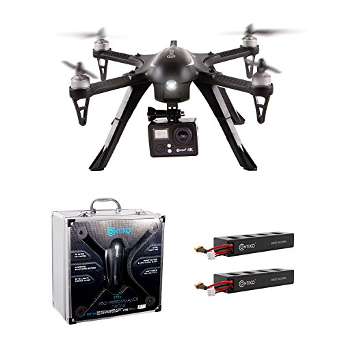 EARLY BLACK FRIDAY! Contixo F17+ Bundle, RC Quadcopter Photography Drone 4K Ultra HD Camera 16MP, Brushless Motors, 2 High Capacity Batteries, Aluminum Hard Case, Supports GoPro Hero Cameras