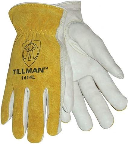 Tillman 1414 Top Grain//Split Cowhide Drivers Gloves Medium