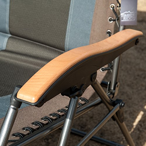 Timber Ridge Oversized XL Padded Zero Gravity Chair Supports 350lbs