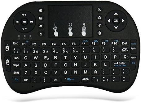 Zenoplige 2.4G Mini i8 (Diseño Español) Multifuncional Portable teclado inalámbrico y ratón para PC, PAD, XBox 360, PS3, Google Android TV Box, HTPC, IPTV con Batería Desmontable Touchpad, Color Negro: Amazon.es: Electrónica