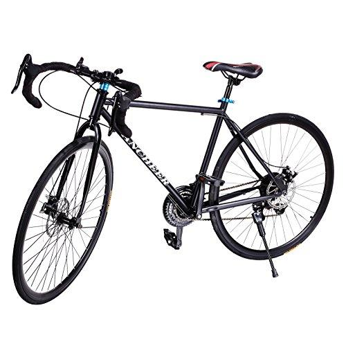 Gracelove® Fashion 700C Aluminum 21 Speed Road/Commuter Bike Racing Bicycle Black