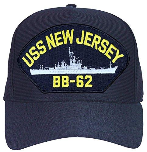 USS New Jersey BB-62 Baseball Cap. Navy Blue. Made in (Usa Bb Jersey)