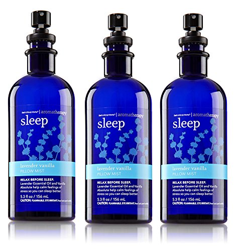 Bath & Body Works Aromatherapy Pillow Mist Lavender Vanilla 3 Pack by Bath & Body Works