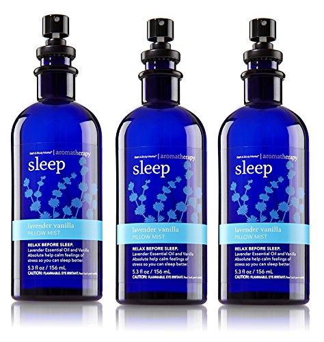 Bath & Body Works Aromatherapy Pillow Mist Lavender Vanilla 3 Pack (Mist Pillow)