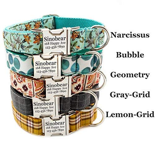 Personalized Dog Collar for Medium Dogs, Custom Laser Engraved Collar with Special Text Dogs (XS, S, M, L, XL)