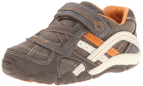 Stride Rite SRT Declan Sneaker (Toddler),Cinder/Brown/Orange,4.5 M US - Stride Rite Sneakers Lightweight